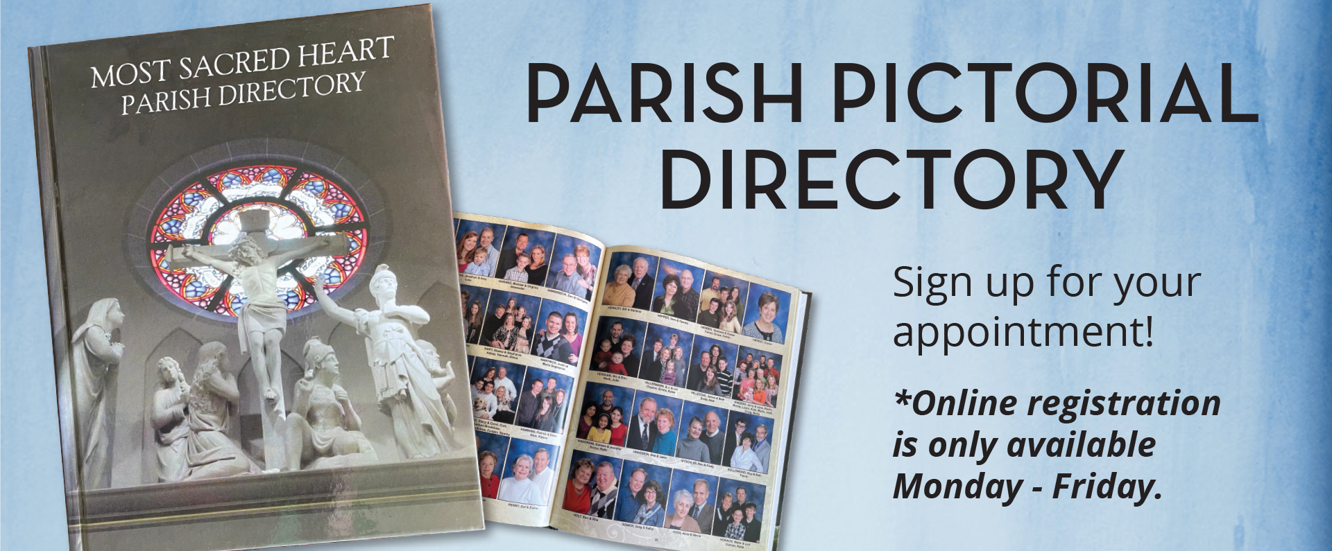 Sign up for your parish pictorial directory photos